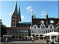 UPE1070 : Marktplatz und Marienkirche in Lübeck (Market Square and Marienkirche in Luebeck) by Udo und Joan Fugel