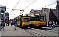 UMV5628 : Tram and Stadtbahn car at the Pyramid by Dr Neil Clifton