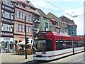 UPB4249 : Erfurt - Tram am Domplatz (Tram on Cathedral Square) by Colin Smith