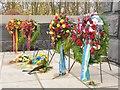 UUU8926 : Schönholzer Heide - Sowjetisches Ehrenmal - Blumenkranzen (Soviet Memorial - Wreaths) by Colin Smith