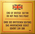 UUU8213 : End of British Sector by Colin Smith