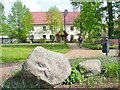 UUT7594 : Gröben - Dorfanger mit Findlingen (Erratic Blocks on the Village Green) by Colin Smith
