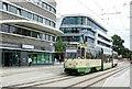 UUU3408 : Strassenbahnendhaltestelle, Brandenburg a d Havel Hbf, 2015 (Tramway terminus, Brandenburg Station, 2015) by Alan Murray-Rust