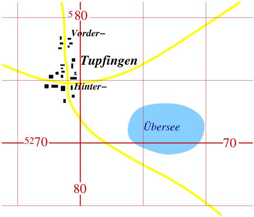 Beispielkarte mit UTM-Gitter