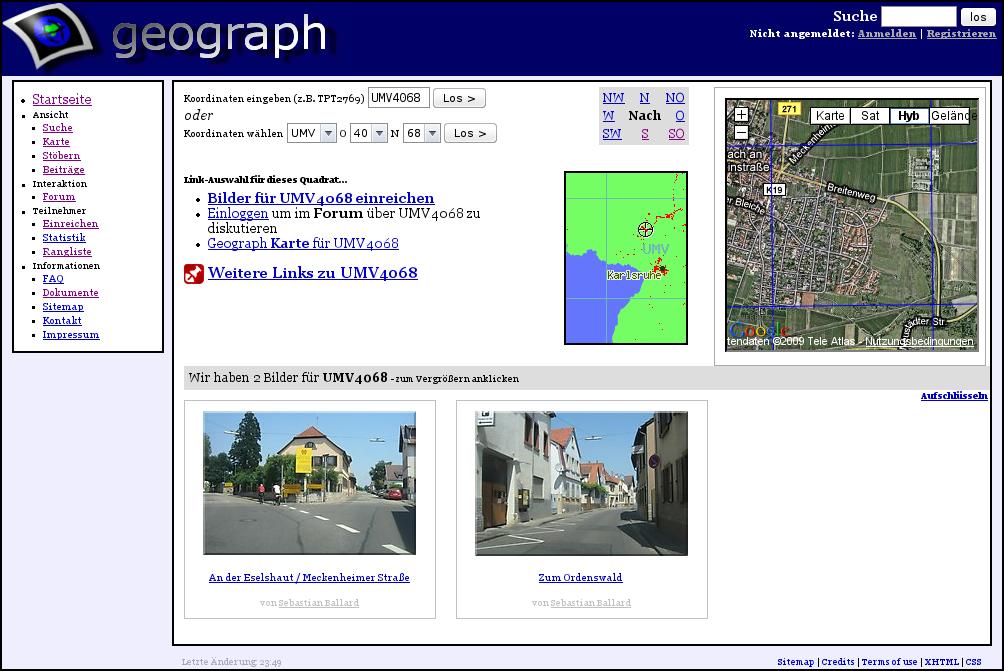 Screenshot: In Karte navigieren